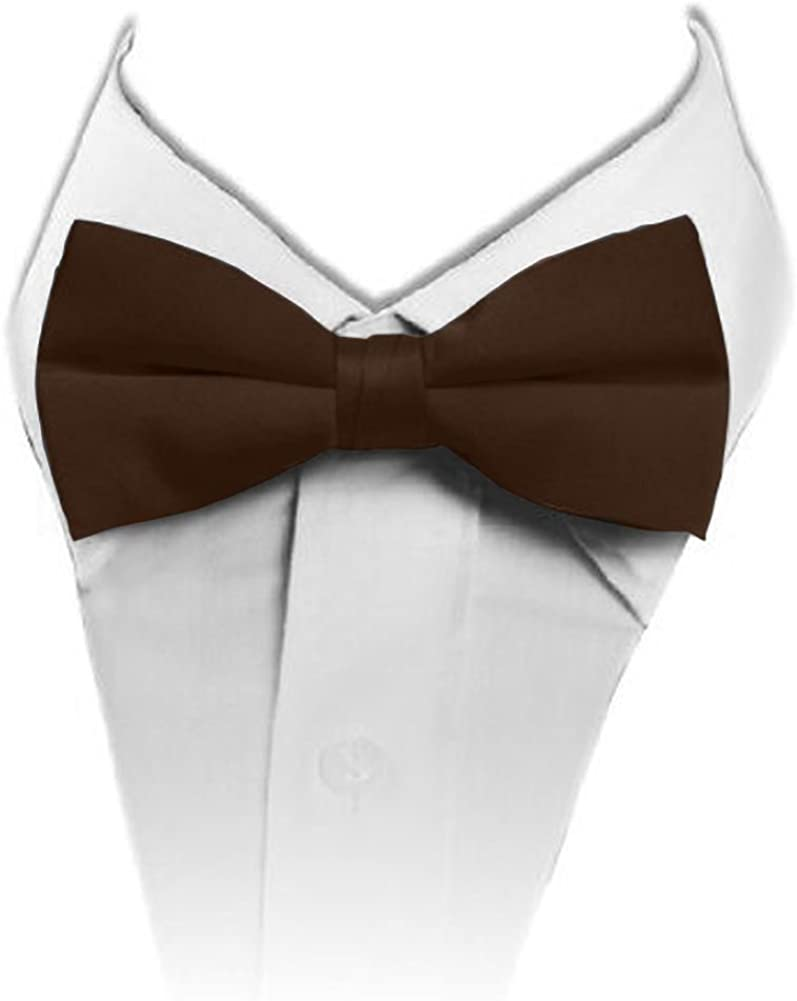 Solid Banded Bowtie Brown Challenge the lowest price of Japan ☆ TO-55 67% OFF of fixed price