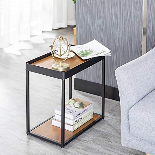 Side Table End Tables Sofa Table Living Room Corner Table Small Coffee Table Bedroom Bedside Table Best Gift (Color : Black, Size : 523151cm)