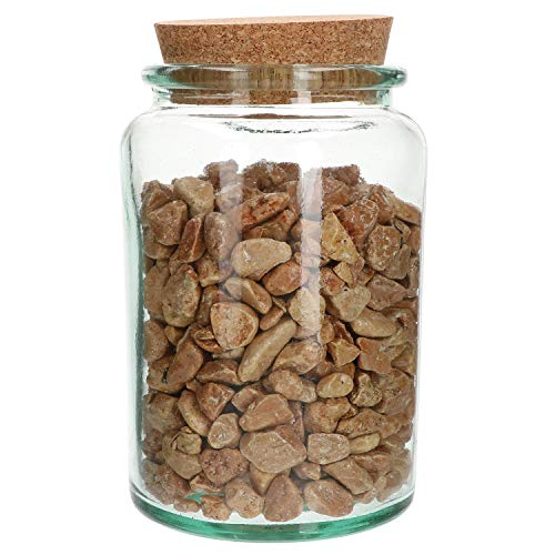 MamboCat voorraadpot met kurk deksel | van gerecycled glas | H 18 cm, D 11,5 cm | opbergmogelijkheid | doos | hobby | klusser | levensmiddelen | snoepjes