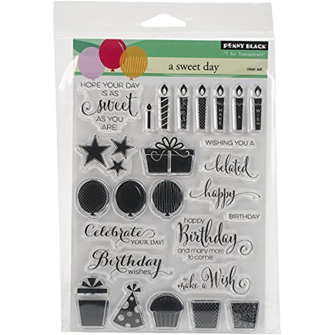 Penny Black PB30280 A Sweet Day Clear Stamps Sheet, 5 x 6.5