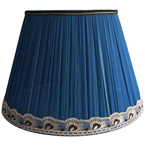 SAC d'épaule Plissee-Design Lampshade, traditionelle Klassische tonnenförmige Stoff Lampenschirm, benutzt für Tischlampen und Stehlampen, E27 Lampenfassung,40CM