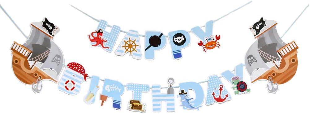 ABOOFAN Halloween Party Banner Pirate Max 64% OFF Deluxe Happy Birthday Theme Hangi