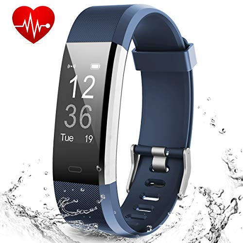 Muzili Smart Fitness Band IPX7 Waterproof Fitness Tracker Watch with Heart Rate Sleep Monitor 14 Exercise Modes Activity Band GPS Route Tracking USB Quick Charge for Men Women Boys Girls