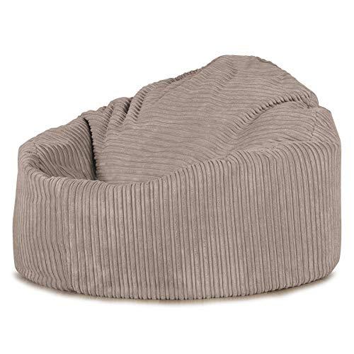 Lounge Pug®, Pouf Poire, Petite Mammouth', Côtelé Vison