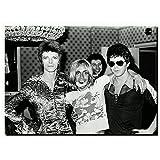 NFGGRF David Bowie mit Iggy Pop Star Vintage Malerei Poster