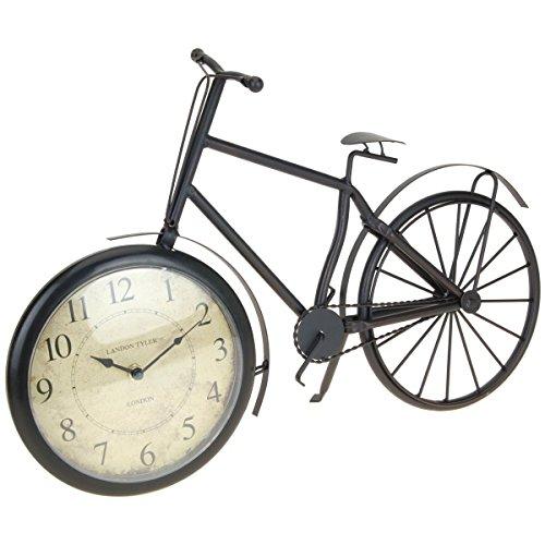 Mazali Orologio da Tavolo in Metallo a Forma di Bicicletta, Multicolore, 50 x 10 x 33 cm