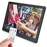 Greensen - Marco de fotos digital con mando a distancia, 1280 x 800 HD, marco de fotos digital inteligente y calendario, para montaje en pared, color negro