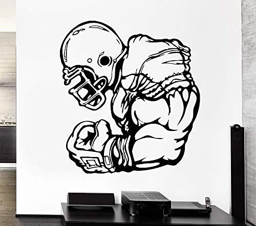 Neues Design Abziehbilder Athlet Sport Spiel Dominant Rugby Spieler Vinyl Wandaufkleber Home Decor Wohnzimmer 84x92cm