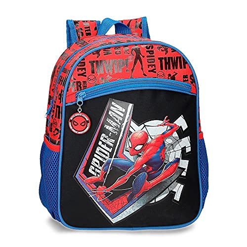 Marvel Spiderman Great Power Mochila Adaptable Rojo 27x33x11 cms Poliéster 9,8L