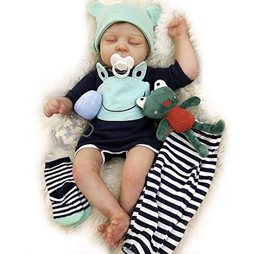 Adolly Reborn Baby Dolls Realistic 20 Pulgadas 50cm Cuerpo de Tela de Silicona Suave Hecho a Mano Muñecas recién Nacidas con Peso Real para niñas de 3 años