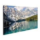 Bild auf Leinwand Moränensee Rocky Mountains Kanada Bilder