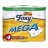 Foxy Mega - Carta Igienica, Pratica e decorata - 4 Rotoli