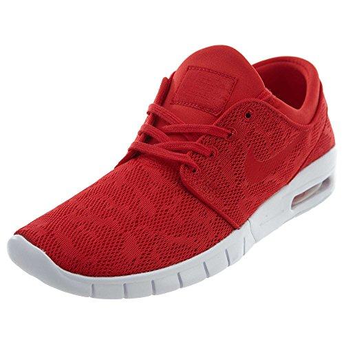 Nike Men's Stefan Janoski Max University Red/University Red-whiteSneakers - 8.5 D(M) US