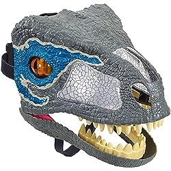 """1. Jurassic World Chomp 'n Roar Velociraptor """"Blue"""" Mask"""