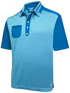 2016 Golf Relay Patch Pocket Anti-Roll Collar Mens Golf Polo
