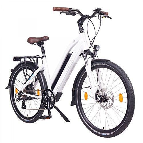"NCM Milano Bicicleta eléctrica de Trekking, 250W, Batería 48V 13Ah 624Wh (26"" Blanco)"