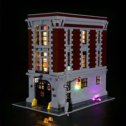 BRIKSMAX Kit di illuminazione a led per Lego Ghostbusters Ghostbusters Caserma dei Vigili del Fuoco - Compatibile con Lego 75827 Modello di blocchi predefiniti- Non includere il Set Lego