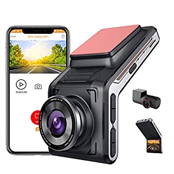 SAMEUO 2K Dual Dash Cam FHD 1440P Front 1080P Rear Camera 2 Inch LCD Screen 170° Wide Angle Night Vision 24hr Motion Detection Parking Mode Loop Recording G-Sensor WDR Dedicated App [U2000]