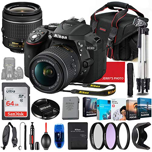 Nikon D5300 DSLR Camera with 18-55mm Lens Bundle + Premium Accessory Bundle...