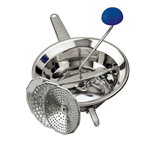 O.M.A.C. Passatutto function manual stainless steel 18/10with interchangeable towels and three feet