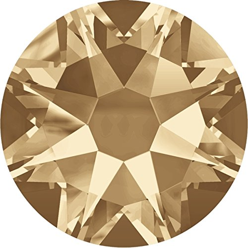Swarovski 100 Stück Elements 2088 XIRIUS Rose, KEIN Hotfix, Crystal Golden Shadow, SS16 (Ø ca. 4 mm), Strasssteine zum Aufkleben