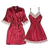 BXzhiri Women Sleepwear Lingerie Lace Temptation Fashion Underwear Women Lace Camisole Nightdress Nightgown Suit Lingerie Set