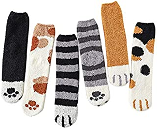 3D Novelty Fashion Animal Cat Claw Socks Winter Plush Thicken Socks