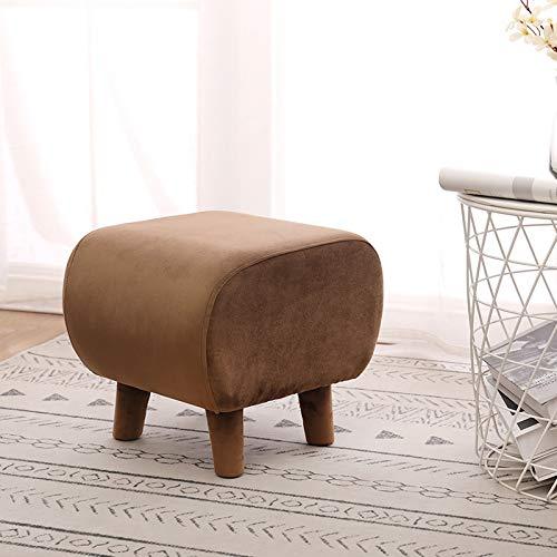 Reposapiés-pequeño sofá redondo taburete sentado muelle sala de estar tela de la moda del hogar creatividad sólida madera puf otomana taburete bancos
