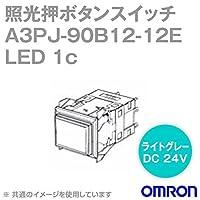 オムロン(OMRON) A3PJ-90B12-12EW 照光押ボタンスイッチA3Pシリーズ (白) (長方形・無分割) (LED) (オルタネイト) NN