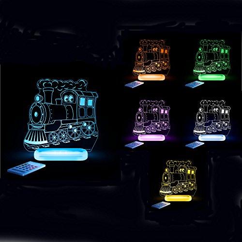 Aloka Nachtlicht mit verschiedenen Farben, Design Aloka:Zug