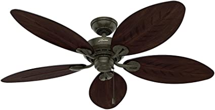 Hunter Indoor / Outdoor Ceiling Fan, with pull chain control - Bayview 54 inch, Gold, 54098