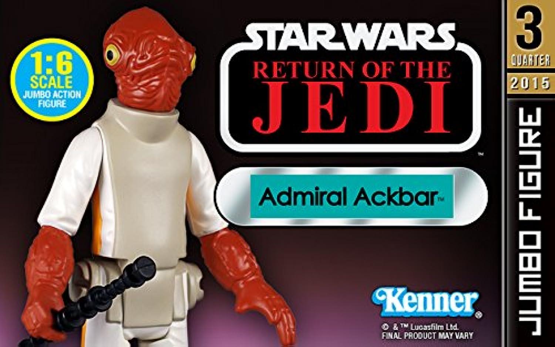 Gentle Giant Studios Star War der Krieg Admiral Ackbar Jumbo Kenner Figur