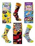 Rainbow Socks - Hombre Mujer Divertidos Altos Calcetines Party - 3 Pares - Flamingo Grill Disco - Talla 36-40