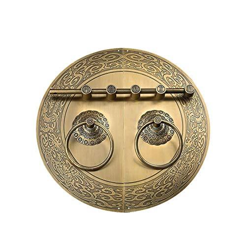 TEVISE Türklopfer Griff Reines Kupfer Tür-Verriegelung Retro-Tür-Dekoration Kupfer Griff Vintage-Tür Küchengriff Möbelknopf Kleiderschrank (Color : Bronze, Size : 30cm)