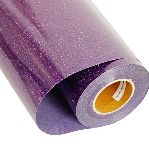 Transfer de vinilo para textiles [HOHO] con purpurina, para camisetas, 51 x 30 cm