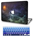 LuvCase 2 in 1 Laptop Case Compatible with MacBook Air 13 Inch (2018-2020) A1932 (Touch ID) Retina Display Rubberized Plastic Hard Shell Cover & Keyboard Cover (Painting Stars)