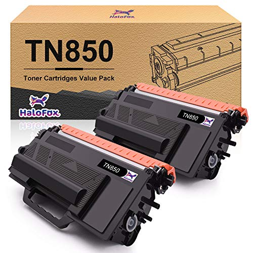 HaloFox Compatible Toner Cartridge Replacement for Brother TN850 TN 850 TN-850 HL-L6200DW HL-L6200DWT MFC-L5900DW (Black, 2-Pack)