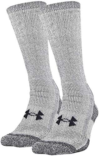 Under Armour Adult Hitch Coldgear Boot Socks 2 Pairs Grey Medium product image