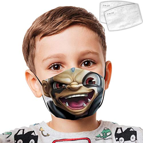 kaos spyro Kids Anti Dust Mouth Youth Reusable Earloop Face Covering 2 Filter Washable Breathable