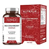 Arándano Rojo Americano con Vitamina C, D-Manosa e Hibisco | Protección tracto urinario y Antioxidante | 60 Cápsulas Nutralie