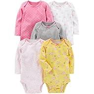 Simple Joys by Carter's Baby Girls' 5-Pack Long-Sleeve Bodysuit