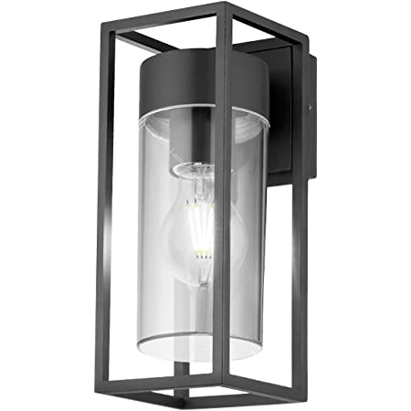 Outdoor Exterior Modern Garden Wall Light Lantern Cool White Clear Diffuser LED Compatible Includes 4w Bulb ZLC079CW