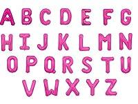 文字 アルファベット バルーン サイズ30センチ カラーマゼンタ 全アルファベットから選べるバルーン (K)