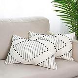 blue page Boho Neutral Diamond Decorative Throw Pillow...