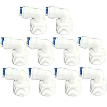 Pxyelec - Tubo de conexión para filtro de agua, 1/4 pulgadas, 5 ...