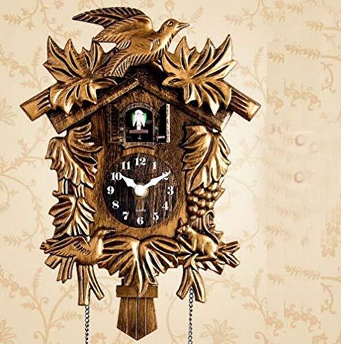 Wohnzimmer Wanduhr Vogel Kuckuck Wecker Uhr Moderne kurze Kinder Einhorn Dekorationen Home Day Time Wecker Moderne Wanduhr (Golden)