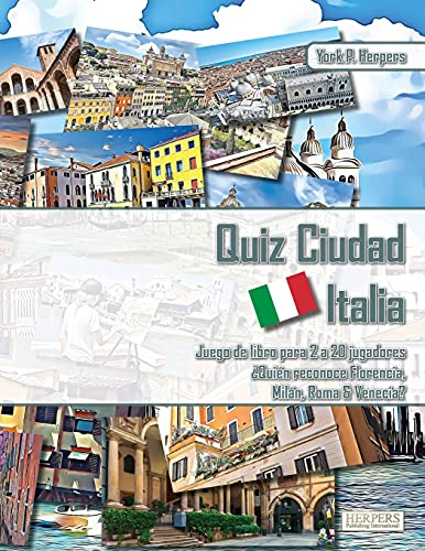 Quiz Ciudad Italia   Juego de libros para 2 a 20 jugadores   ¿Quién reconoce Florencia, Milán, Roma y Venecia?