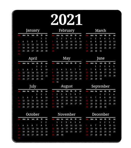 Smooffly 2021 Calendar Mouse pad Gaming Mouse pad Mousepad Nonslip Rubber Backing