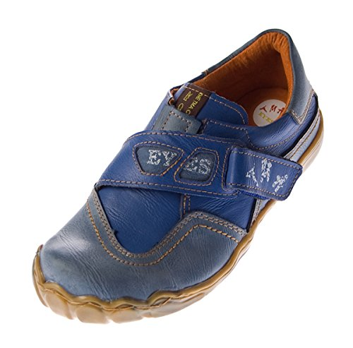 TMA Damen Leder Comfort Schuhe Eyes 1901 Halbschuhe Slipper Blau Turnschuhe Sneakers Used Look Gr. 37