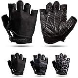 Fitgriff® Guantes de Gimnasio V3 - Hombre y Mujer - para Gym, Fitness, Deporte, Entrenamiento, Powerlifting, Levantamiento de Pesas - Antideslizante - Workout Gloves (Full Black, Size 9)